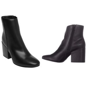 [Madden Girl] Black Aaden Chunky Heel Booties